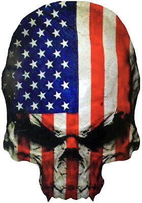 Skull Reverse United States of America USA Flag DIY Car Motorcycle Decal Sticker