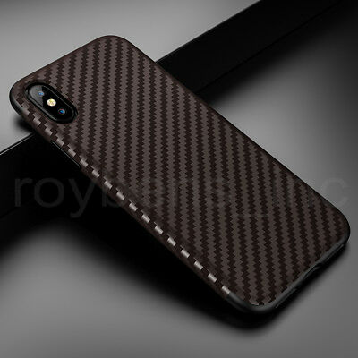 Luxury Carbon Fiber Armor Shockproof Hybrid Silicone Soft Slim Case For iPhone X