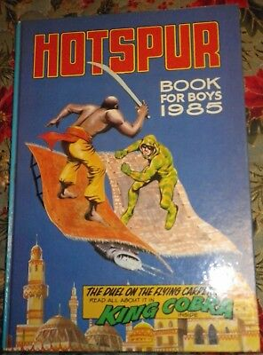 Vintage Annual: Hotspur Book for Boys 1985 Very good condition