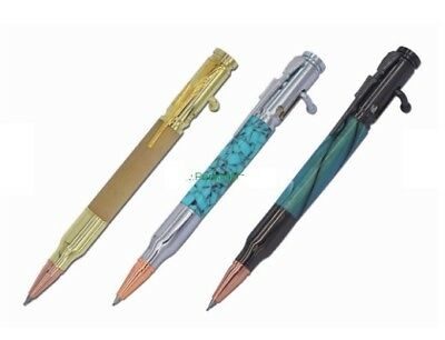 Woodturning BOLT ACTION Pen Kit in either Gold / Chrome or Gun Metal