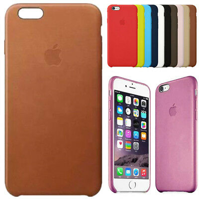 For Apple iPhone X 8 7 6 6s Plus Luxury Genuine Leather Inside Skin Cover Case