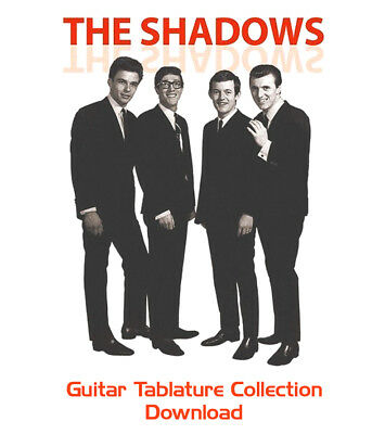 The Shadows & Hank Marvin Guitar Tab Tablature Instant Download Software