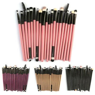 20PCS/Set Makeup Brush Set Tools Wood Handle Toiletry Kit Wool Cosmetic Eyeliner