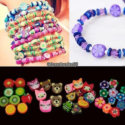 100 PCS Clay Beads DIY Slices Mixed Color Fimo Polymer Clay EH7E 03