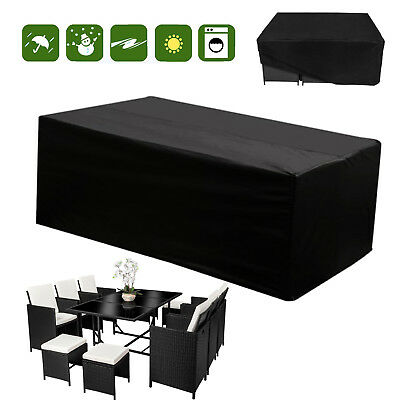 Patio Rattan Garden Furniture Cover Cube Outdoor Table Chair Set Rain Cover M/XL