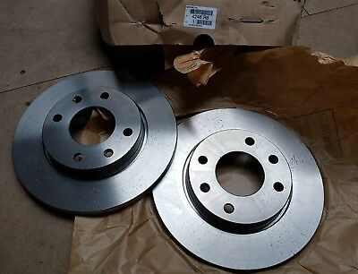 Brand New Genuine Pair Of Peugeot 206 Front Brake Discs 4246.r8