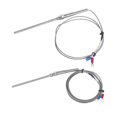 2Pcs 100mm Spade K-Type Temperature Controller Thermocouple -100 to 1250°C