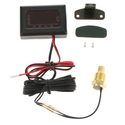Car Motor Digital Electronic Water Temp Temperature Gauge with Sensor 17mm