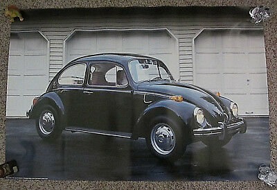 "Vintage Oop Hard To Find Volkswagen Beetle Poster 24"" X 36"" #1608 From 1987"