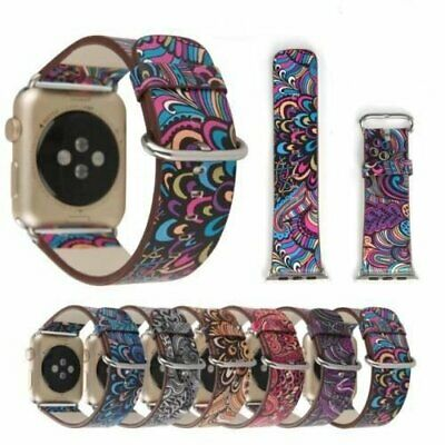 Colorful Leather Apple Watch Strap Band series3 2 1  iWatch strap 38 42mm