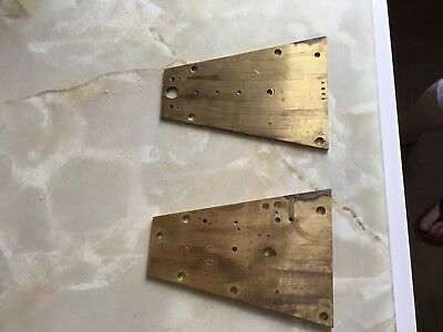 Antique Vienna Clock Movement plates
