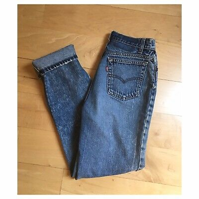 Vintage Levis Denim Jeans High Waist Relaxed Tapered 80's 550 501 Student Fit 26