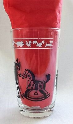 Vintage Swanky Swig Baby Horse / Pony & Duck Juice Glass  Applied Color