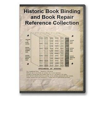 Bookbinding History 38 Books How to Bind Repair Emboss Leather Type - B373