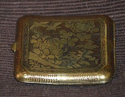 Vintage Japanese Metal Cigarette Case / Box / Container