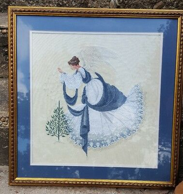 HAND FINISHED & Custom Framed ICE ANGEL Counted Cross Stitch HEAVENLY!!!