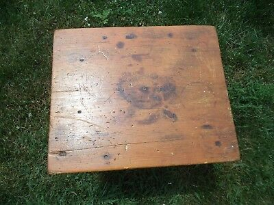 Vintage Antique Country Primitive Side Table Plant Stand Stool All Wood