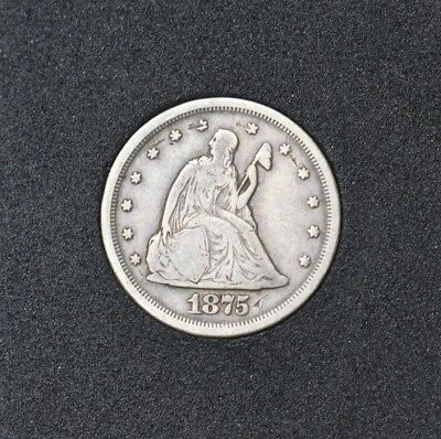 1875-S Seated Liberty Twenty Cent Piece ~~Gorgeous Toned Beauty~~ Don't Pass Up!