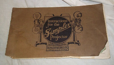 Vintage 1921 Simplex Motion Picture Projector Instruction Service Manual