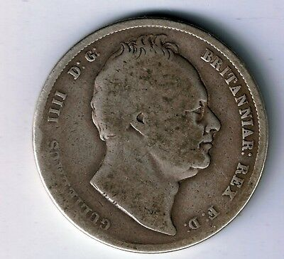 1836 William IV sterling silver half crown coin - 13g