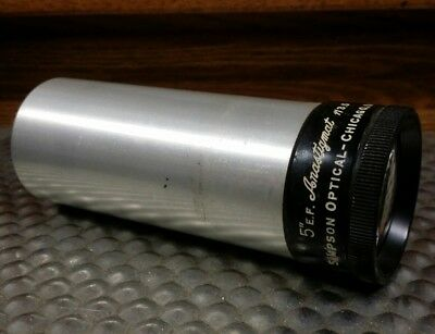 "Vintage Simpson Optical 5"" E.F. Anastigmat f/3.5 Projector Projection Lens"