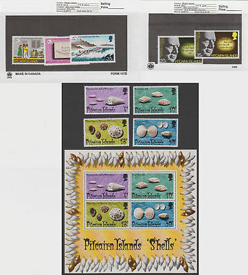 Pitcairn Is. - 1974 Commemorative Sets & S/S. Sc. #137-45. SG #147-56. Mint
