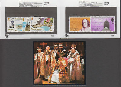 Pitcairn Is. - 1978 Commemorative Sets & S/S. Sc. #177-83. SG #MS178-195. Mint