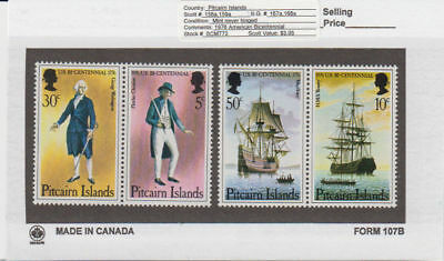 Pitcairn Is. - 1976 American Bicentennial Set. Sc. #158a,59a. SG #167a,68a. Mint