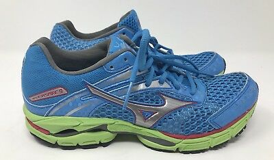 07deb32a916d Mizuno Wave Inspire 9 Women's Blue/Green Running Shoes Sz 8.5 - Barely Worn!