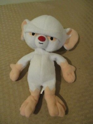 """Rare Animaniacs Pinky And The Brain 8"""" Bean Bag Warner Brothers Store Plush 98"""