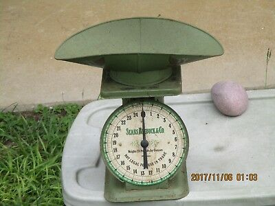 Old Vintage SEARS ROEBUCK & CO Model 1906  25 lb Pound Kitchen SCALE & Holder