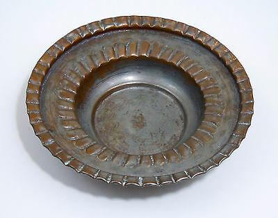 Vintage Egyptian Metal Copper Tin Bowl