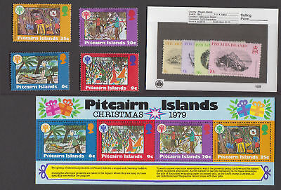 Pitcairn Is. - 1979 Commemorative Sets & S/S. Sc. #184-91a. SG #196-204. Mint