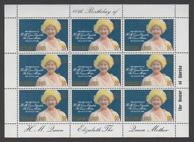 Pitcairn Is. - 1980 Queen Mother Sheet. Sc. #193. SG #206. Mint