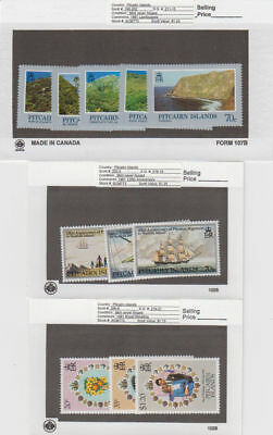 Pitcairn Is. - 1981 Commemorative Sets. Sc. #198-208. SG #211-21. Mint NH