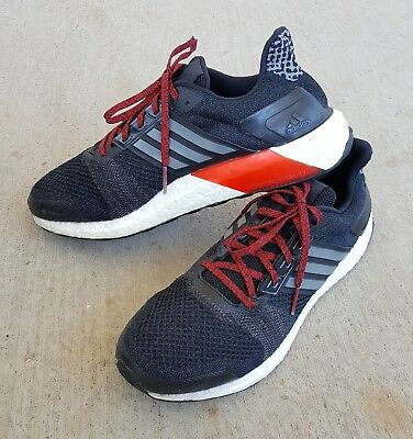 2e73be1e98644 Mens 11 ADIDAS Ultra Boost St Running Shoes Kanye West Black Iron Red -  AF6518