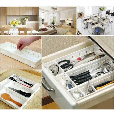 New Adjustable Drawer Organizer Home Kitchen Board Divider Makeup Storage Box