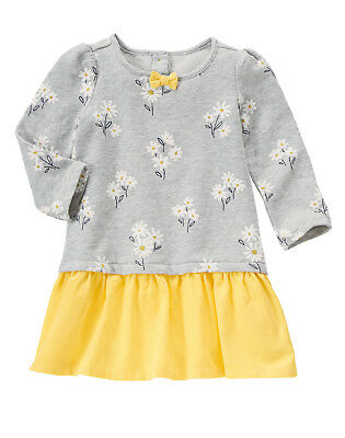 NWT Gymboree Flower Shower Daisy Floral Dress Baby Toddler Girl