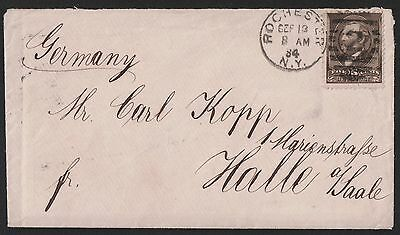 USA 1884 Rochester NY  To Halle Saale Germany - VF COVER
