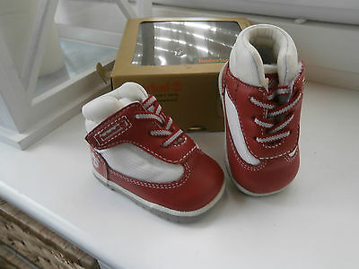 Timberland Crib / Pram Shoes Colour Red Leather see listing for shoe measurement