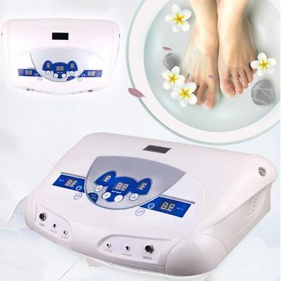 Dual MP3 Ionic Detox Cell Foot Tool Bath Spa Cleanse Machine US Plug EU_Plug