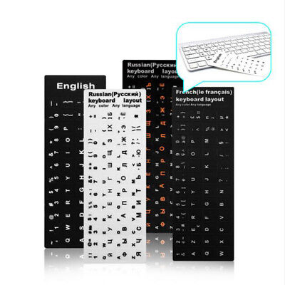 Waterproof Keyboard Stickers Letter Alphabet Layout Sticker For Laptop Desktop