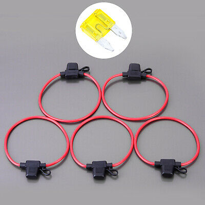 DBG In-Line Micro II Blade Fuse Holder with Red 3mm² Cable