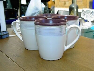 4 X Denby Everday Raspberry Mugs In Very Good But Used Condition  Free UK P&P