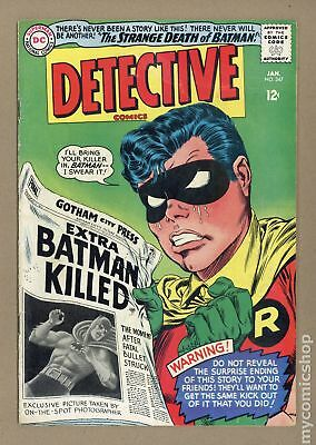 Detective Comics (1st Series) #347 1966 GD/VG 3.0