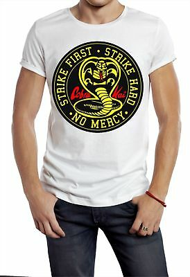 Cobra Kai T Shirt The Karate Kid Strike First No Mercy Classic Movie 80s Tee