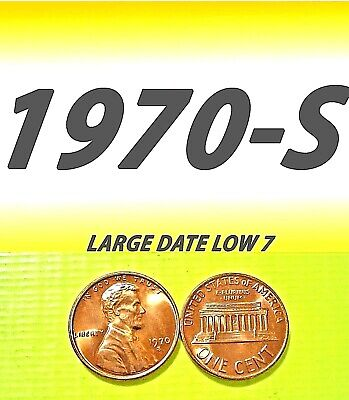 1970-S Lincoln Large Date (Low 7) Uncirculated One Cent===Bu===