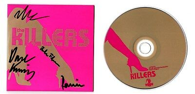 THE KILLERS AUTOGRAPHED CD SINGLE (signed sam's town hot fuss red blue vinyl lp