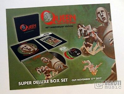 QUEEN - NEWS OF THE WORLD 40TH MAGAZINE AD advertisement promo poster box set lp