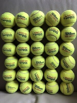 Lot 55  Balles De Tennis Usagées Wilson Us Open